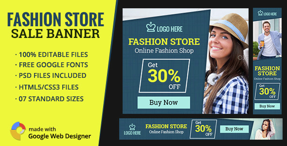 GWD | Fashion Sale Ad Banners - 7 Sizes - CodeCanyon Item for Sale
