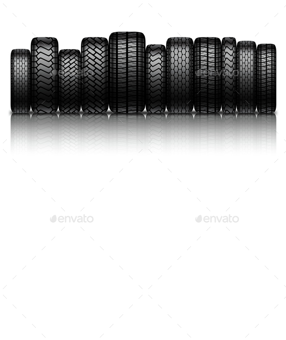 Car Tires - Commercial / Shopping Conceptual