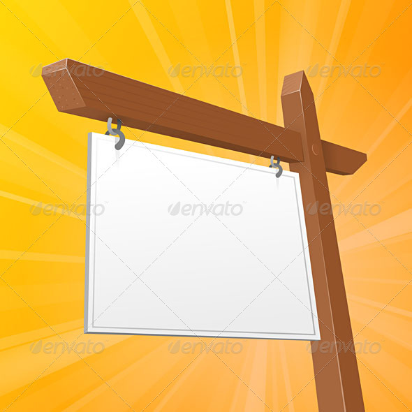 Brown Real Estate Sign - Objects Vectors