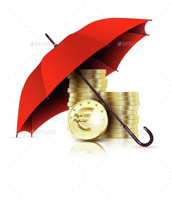 Umbrella and Money.  - Concepts Business
