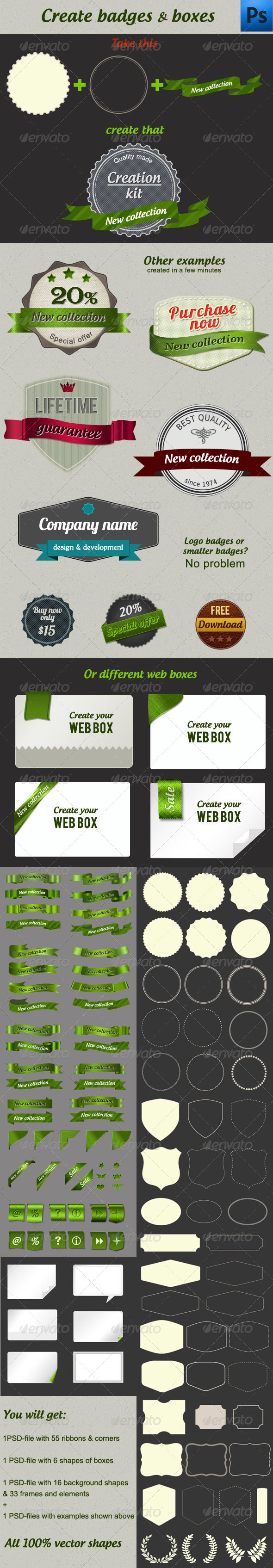 Creation Kit Badges & Boxes - Miscellaneous Web Elements