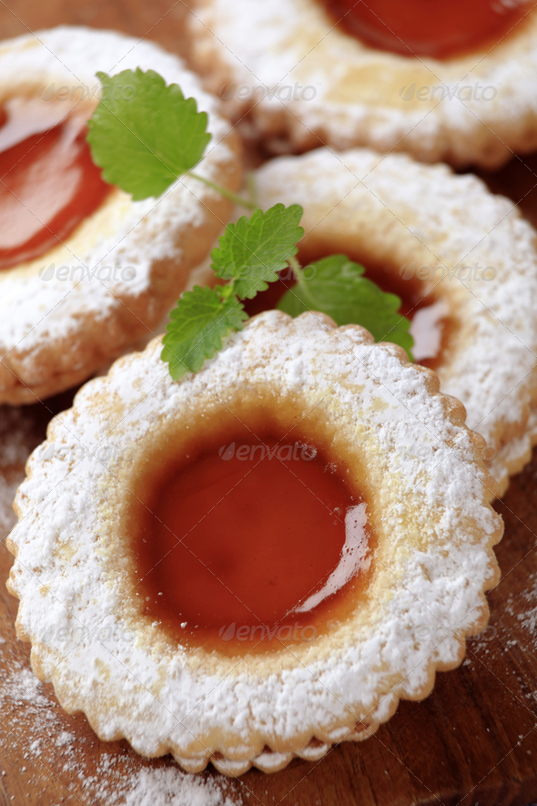 Jam biscuits - Stock Photo - Images