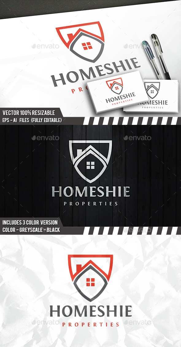 Home Shield Logo - Buildings Logo Templates
