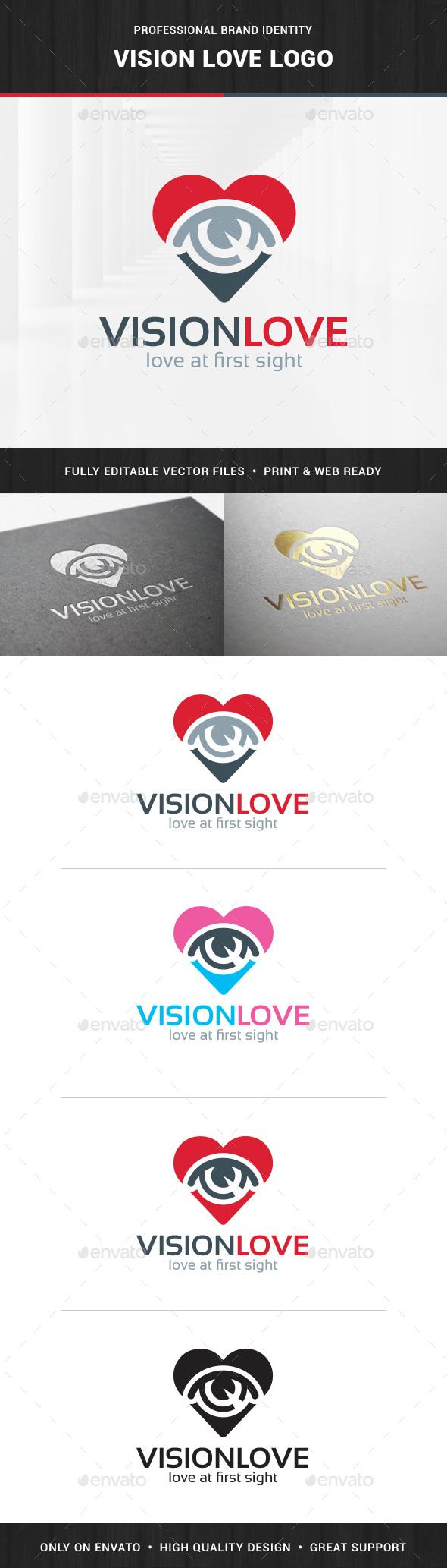 Vision Love Logo Template - Symbols Logo Templates