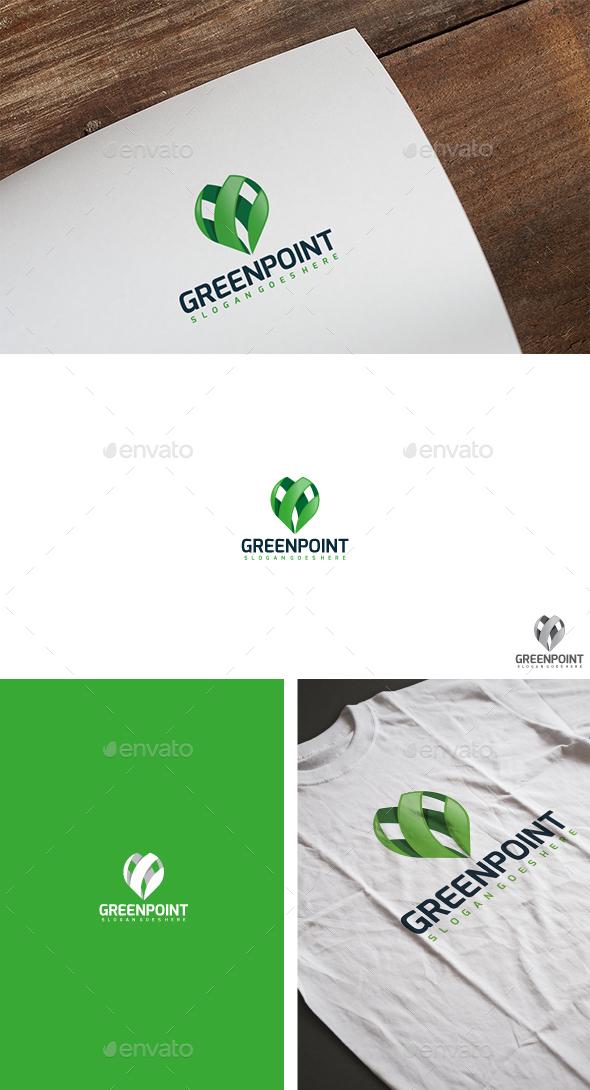 Green Point Logo - Symbols Logo Templates