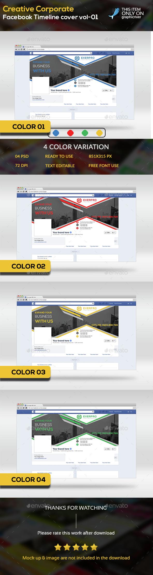 Creative Corporate Facebook timeline cover vol-01 - Facebook Timeline Covers Social Media