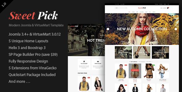 Vina SweetPick – Modern eCommerce VirtueMart Joomla Template