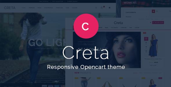 Creta - Flower Shop Responsive OpenCart Theme