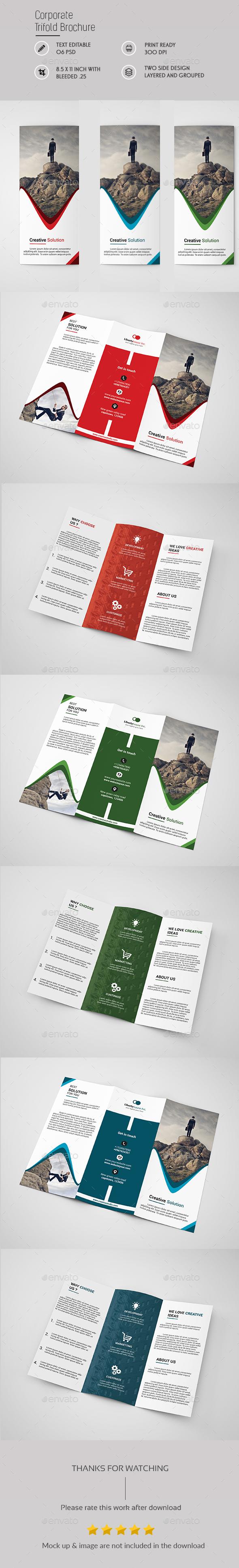 Corporate Tri fold Brochure Template - Brochures Print Templates