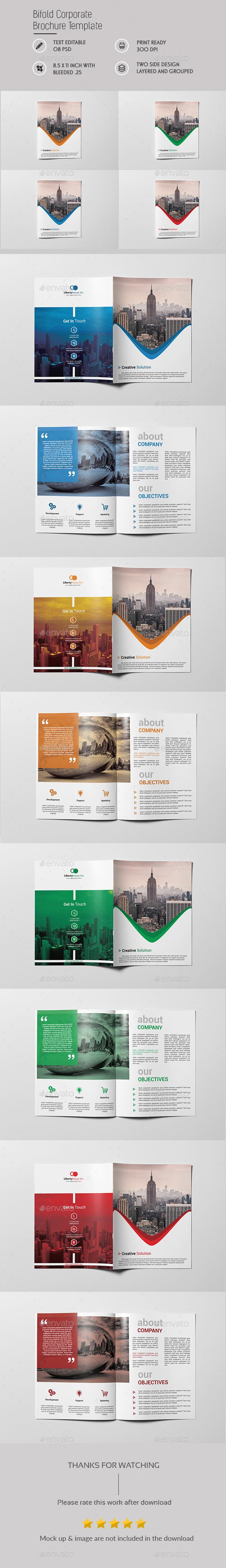 Corporate Bi fold Brochure Template - Brochures Print Templates
