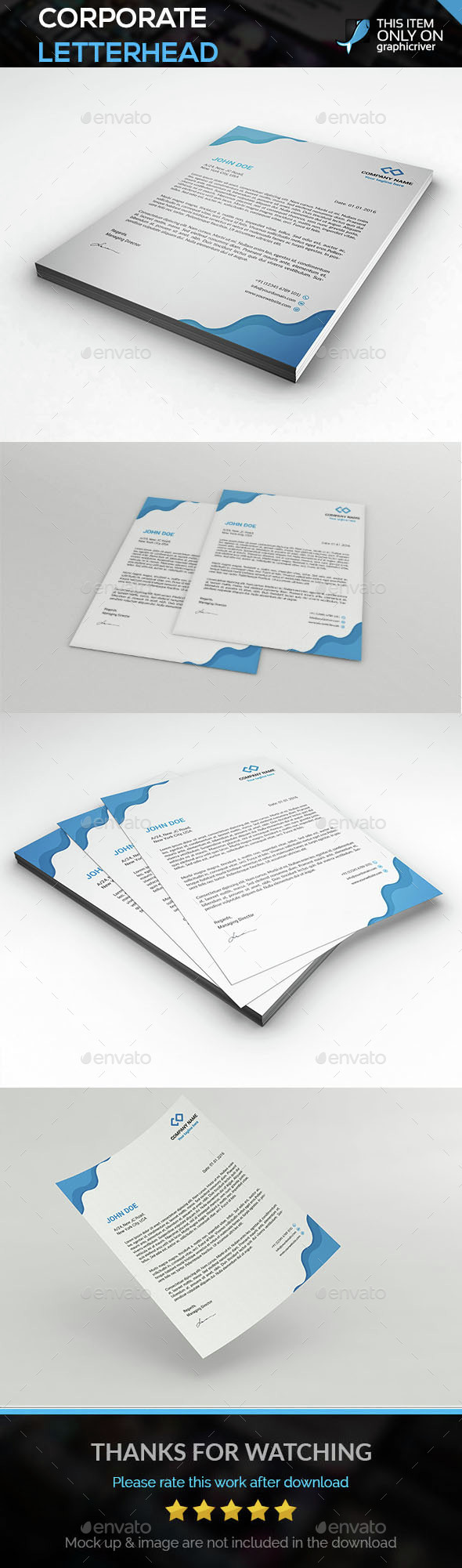 Corporate Letterhead - Corporate Flyers