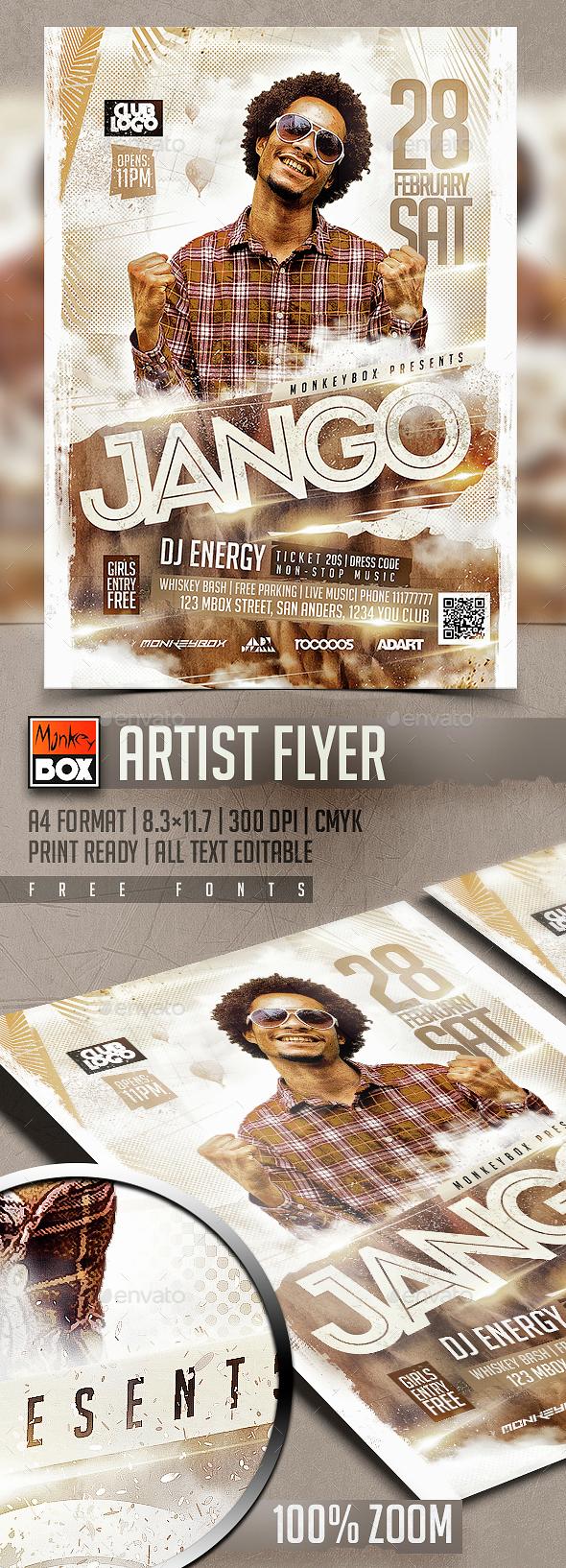 Artist Flyer - Events Flyers