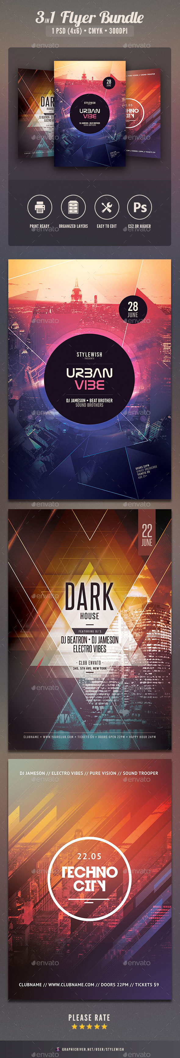 City Flyer Bundle Vol.13 - Clubs & Parties Events