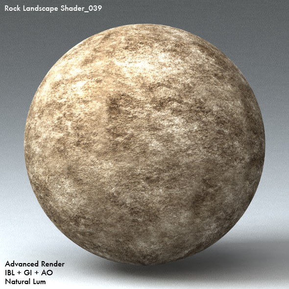 Rock Landscape Shader_039 - 3DOcean Item for Sale