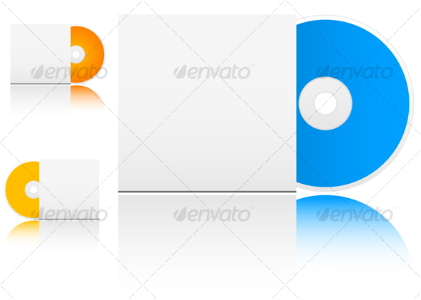 Compact disk with empty box - Technology Conceptual