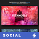 Electronic Music Party Vol1 - Facebook Post Banner Templates - GraphicRiver Item for Sale