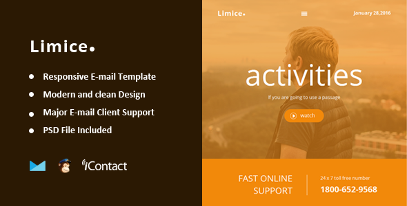 Limice – Responsive E-mail Template