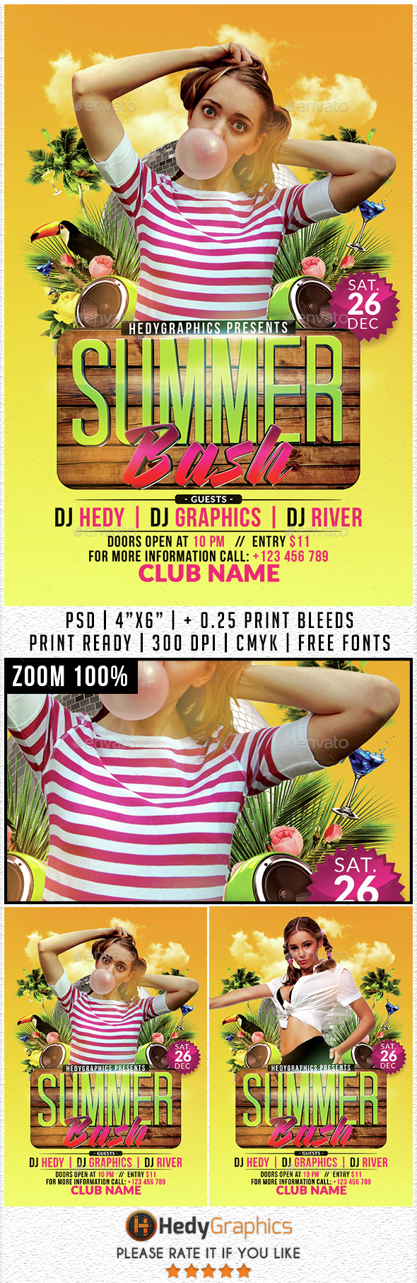 Summer Bash - Flyer Template - Events Flyers