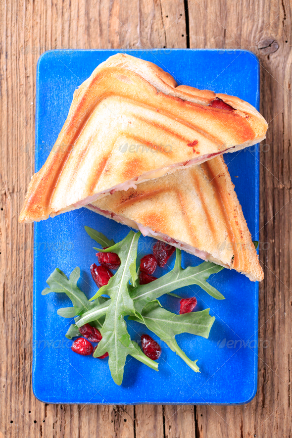 Bacon and cheese toasties - Stock Photo - Images
