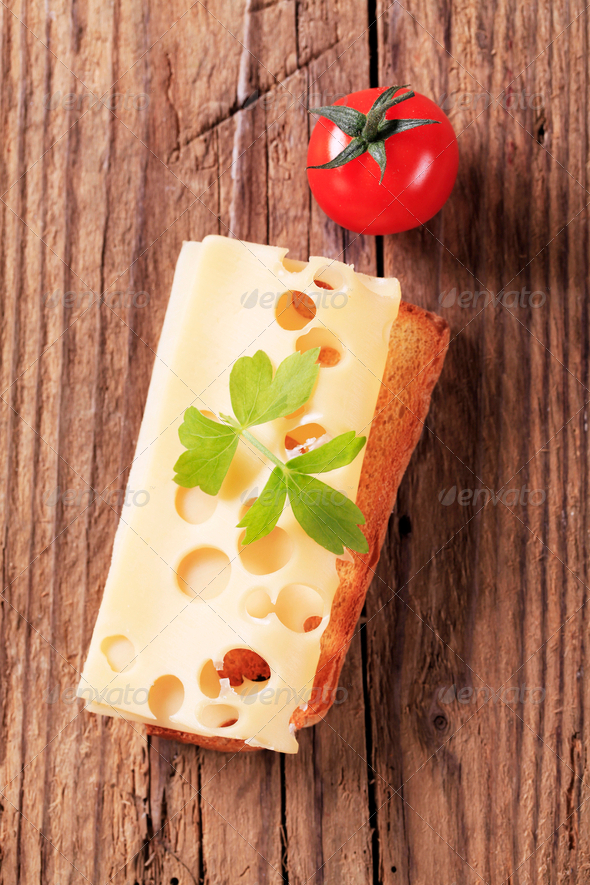 Cheese on toast - Stock Photo - Images