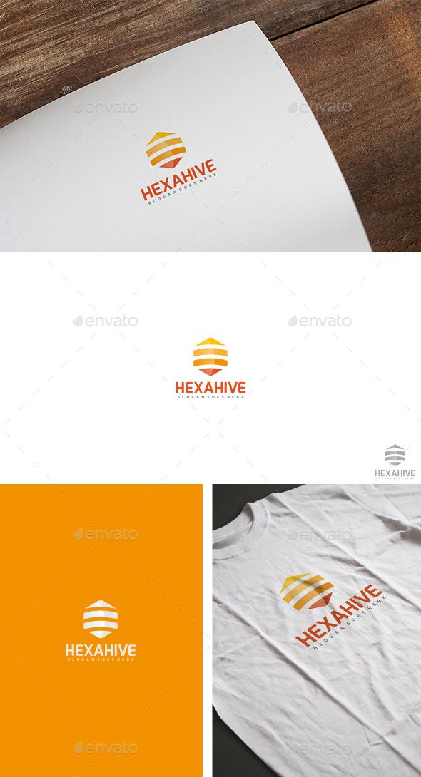Bee Hive Logo - Symbols Logo Templates