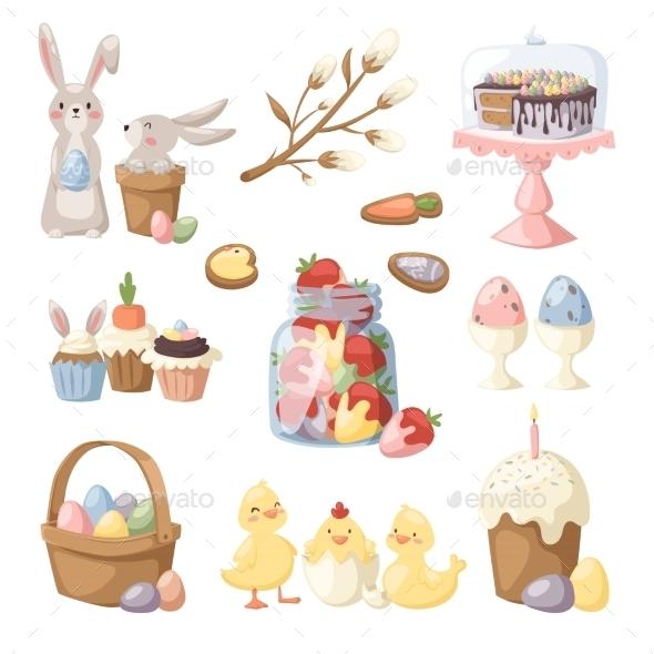 Easter Holiday Vector Illustration - Seasons Nature