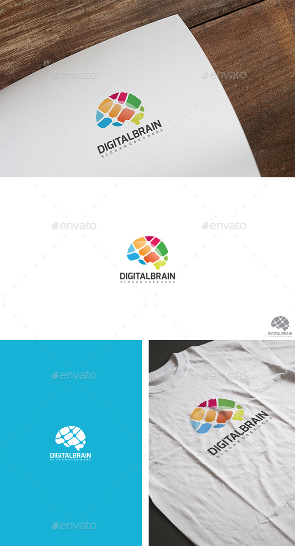 Brain Tech Logo - Abstract Logo Templates