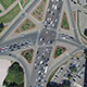 Aerial View Of Highway Interchange  - VideoHive Item for Sale