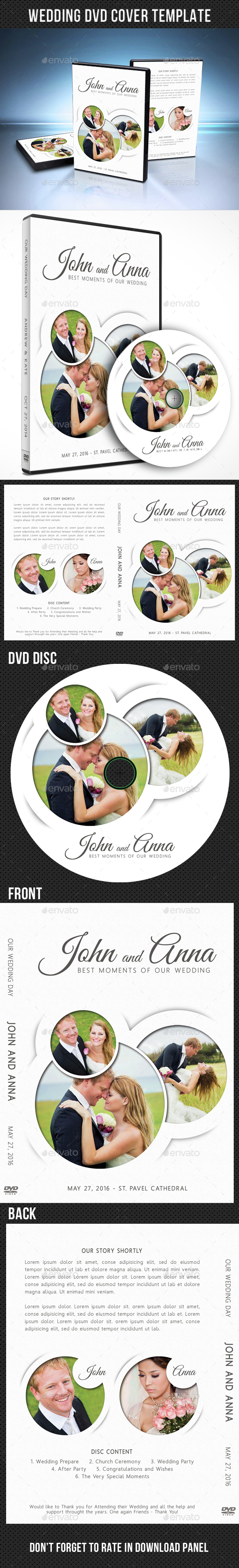 Wedding DVD Cover Template 15 - CD & DVD Artwork Print Templates