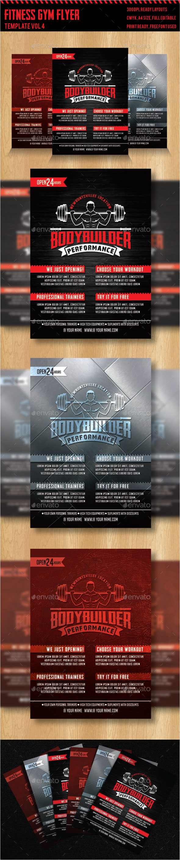 Fitness - Gym Flyer Templates 4 - Sports Events