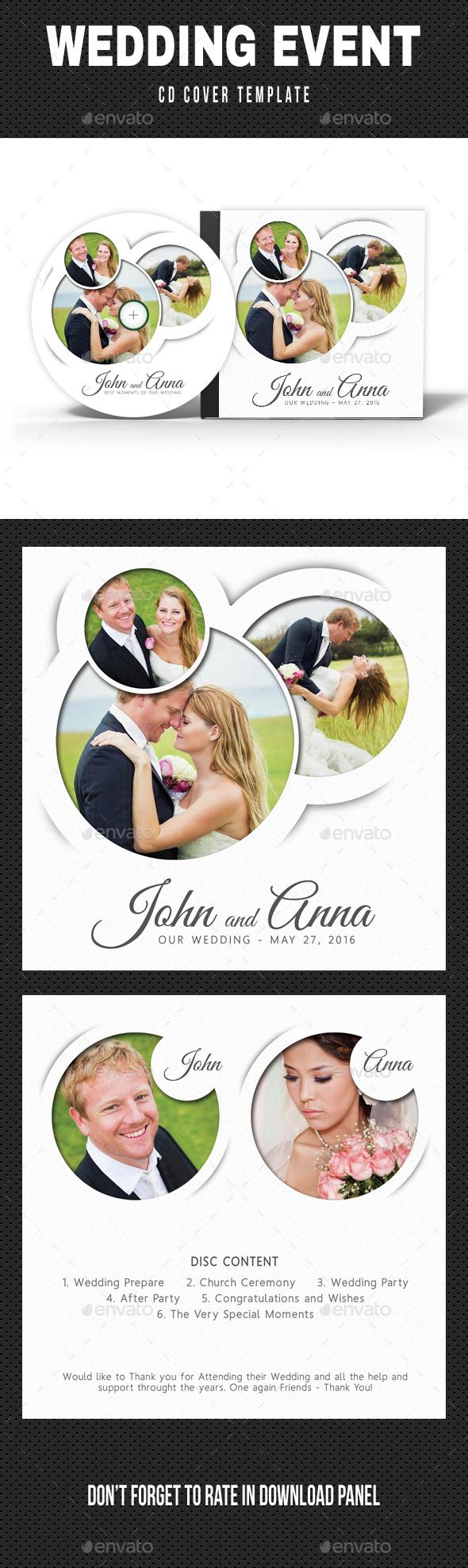 Wedding Event CD Cover v13 - CD & DVD Artwork Print Templates