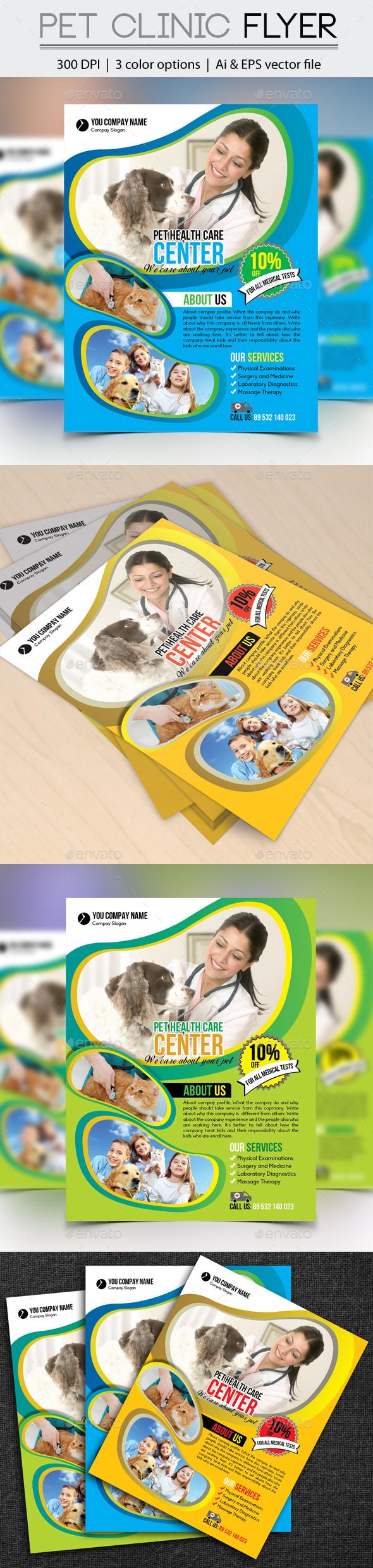 Pet Clinic Flyer - Flyers Print Templates