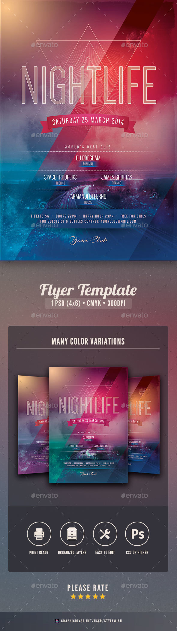 Nightlife Flyer - Clubs & Parties Events