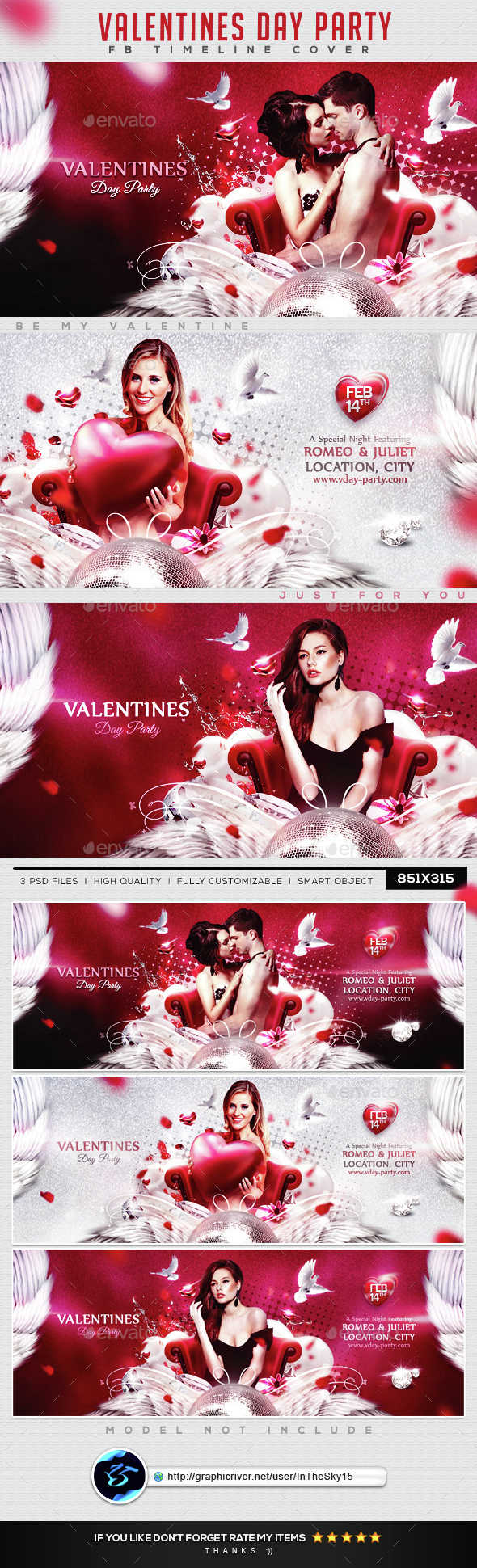 Valentines Day Party FB Timeline Cover - Facebook Timeline Covers Social Media