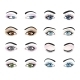 Set Of Female Eyes And Brows Image With - GraphicRiver Item for Sale