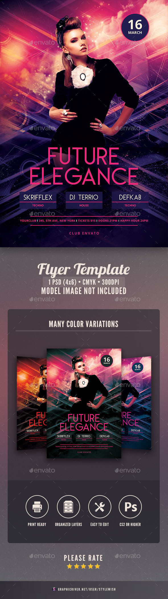 Future Elegance Flyer - Clubs & Parties Events