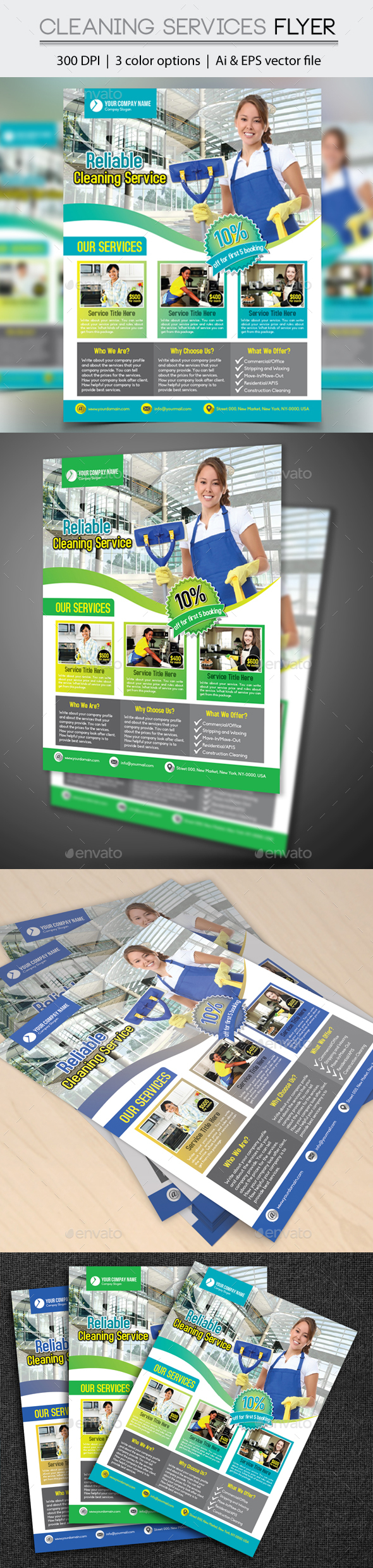 Cleaning Services Flyer - Corporate Flyers