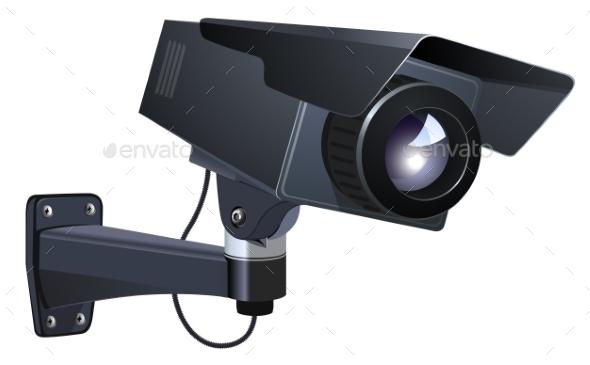 CCTV Vector Illustration - Miscellaneous Vectors