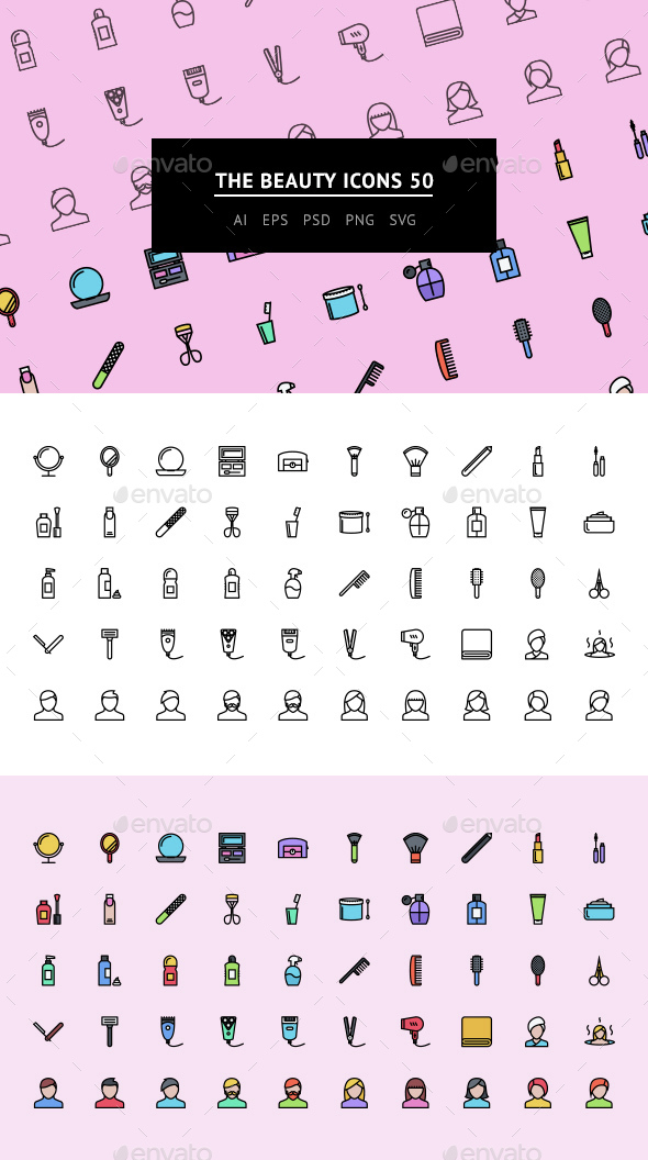 The Beauty Icons 50 - Web Icons