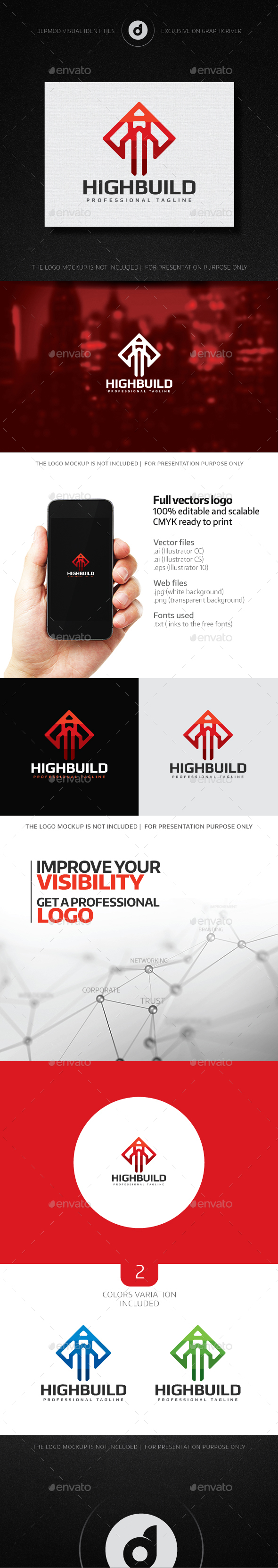 High Build Logo - Buildings Logo Templates