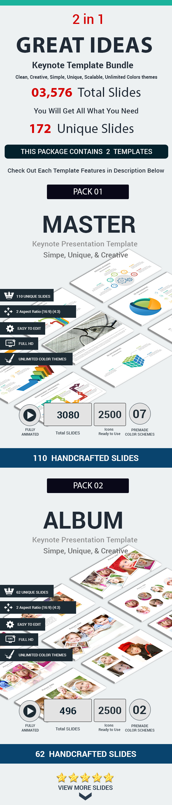 Great Ideas 2 in 1 Keynote Template Bundle - Keynote Templates Presentation Templates