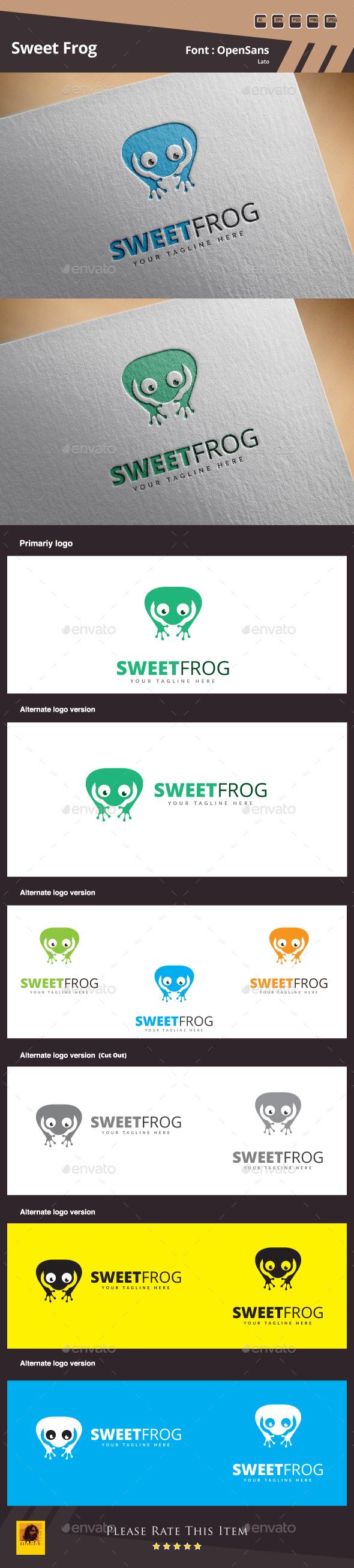 Sweet Frog Logo - Animals Logo Templates