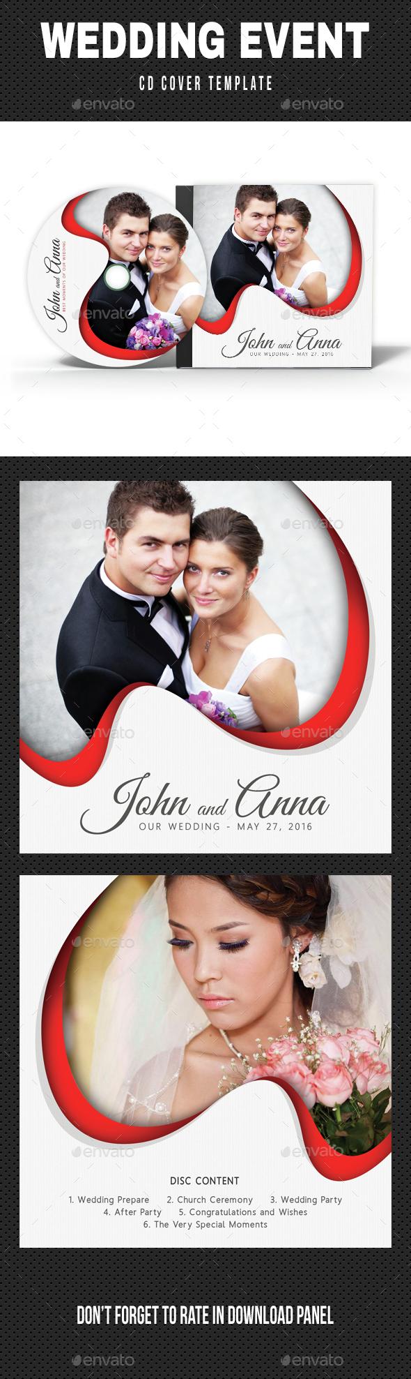 Wedding Event CD Cover v14 - CD & DVD Artwork Print Templates