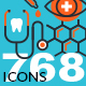 Set of Thin Line Flat Design Icons of Healthcare and Medicine - GraphicRiver Item for Sale