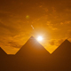 Sunset at the Pyramids of Giza in Cairo - VideoHive Item for Sale