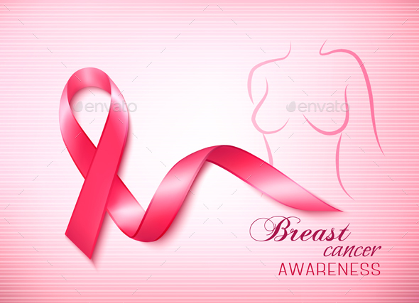 Breast Cancer Awareness Pink Background - Health/Medicine Conceptual