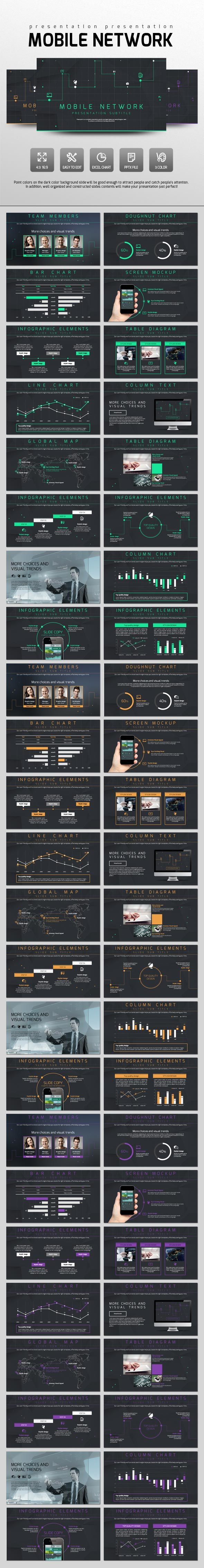 Mobile Network - PowerPoint Templates Presentation Templates