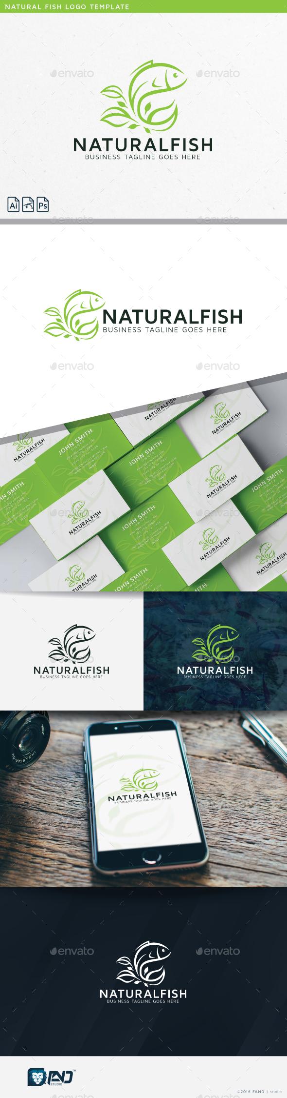Natural Fish - Nature Logo Templates