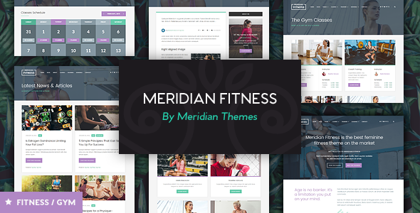 Meridian Fitness – Fitness/Gym WordPress Theme
