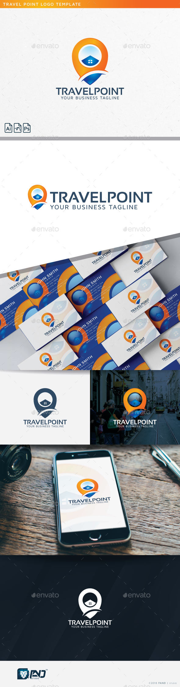Travel Point - Objects Logo Templates